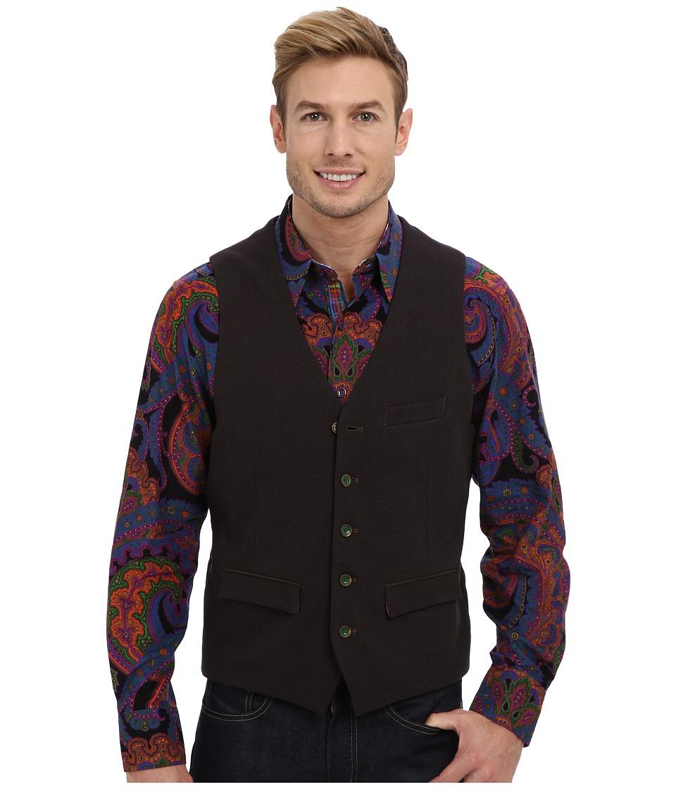 Robert Graham - Downtown Woven Vest (Dark Brown) Men