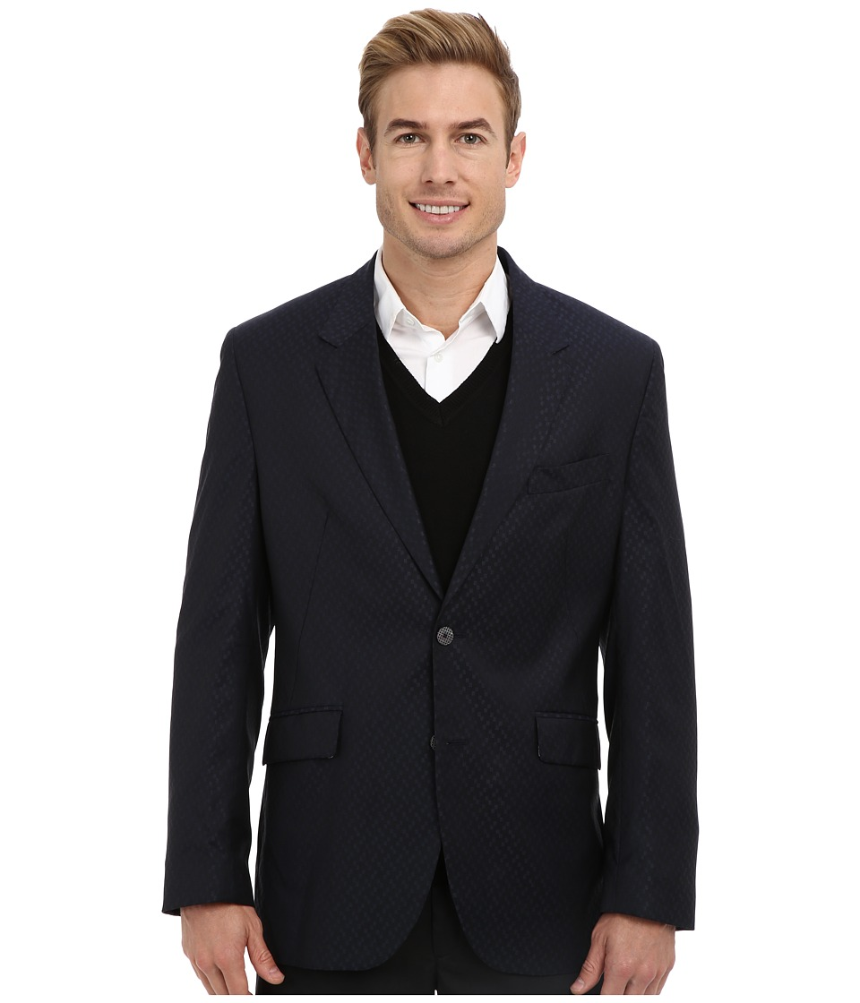Robert Graham - Hollis L/S Woven Sportcoat (Black) Men's Jacket