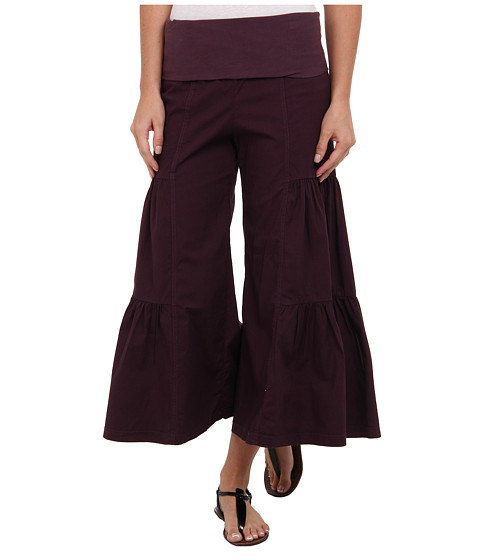 XCVI - Cropped Side Tier Palazzo (Boysenberry) Women's Casual Pants