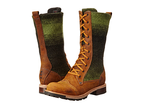 Woolrich - Sante Fe (Green Ombre Wool) Women's Lace-up Boots
