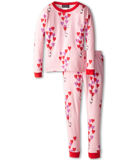 BedHead Kids - Hello Kitty Stretch L/S PJ (Toddler/Little Kids) (Hello Kitty Floating Hearts) Girl