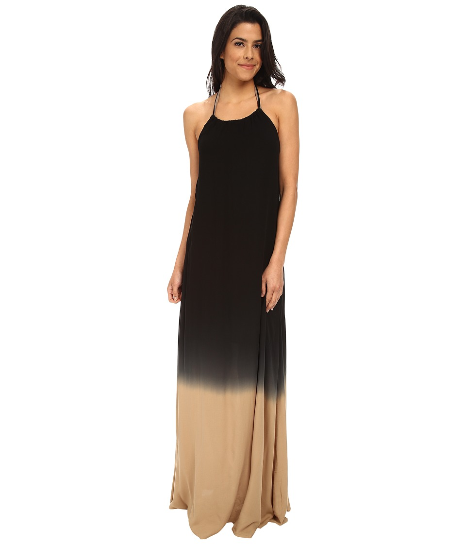 La Blanca - French Dip Hi-Neck Maxi Dress Cover-Up (Black) Women