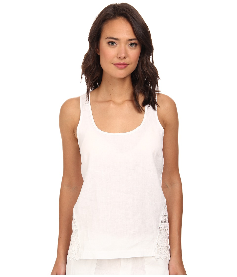 La Blanca - Linen Tank Top Cover-Up (White) Women's Swimwear