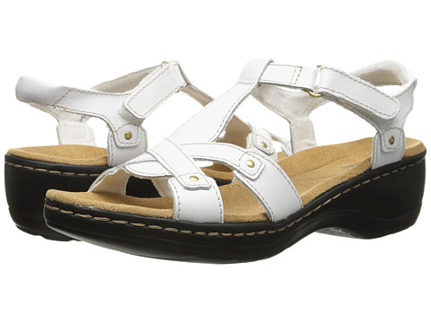 Clarks - Hayla Flute (White Leather) Women