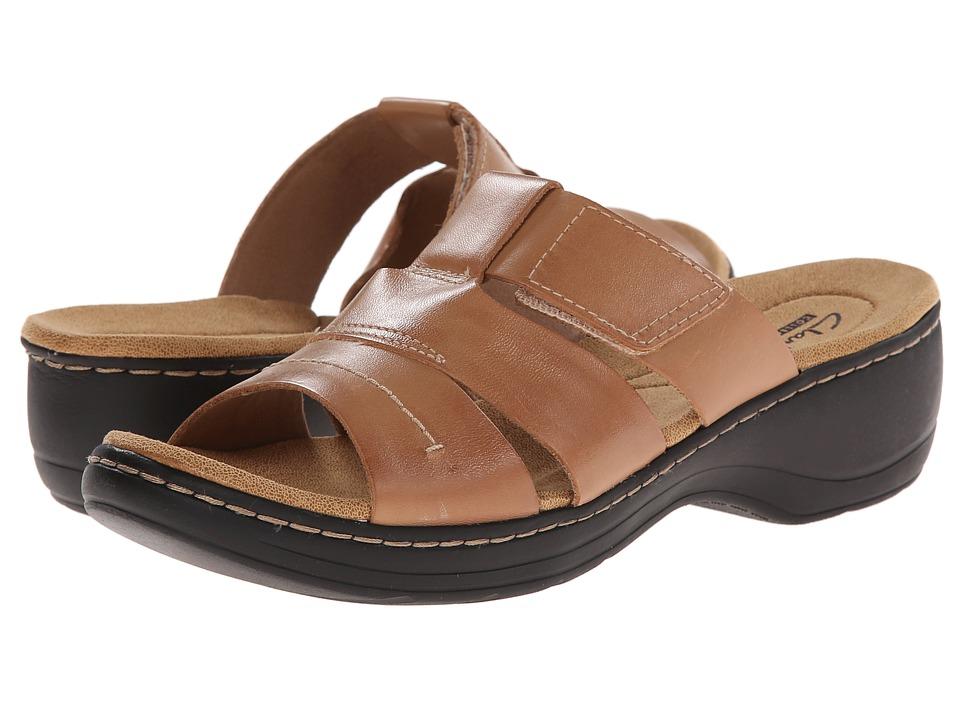 Clarks - Hayla Glacier (Beige Leather) Women's Sandals
