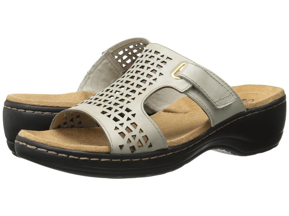 Clarks - Hayla Samoa (White Leather) Women's Sandals