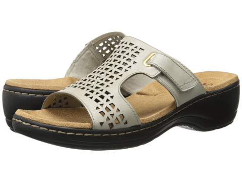 Clarks - Hayla Samoa (White Leather) Women's Sandals