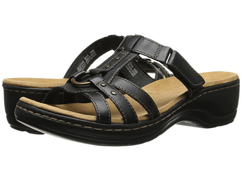 Clarks - Hayla Theme (Black Leather) Women's Sandals