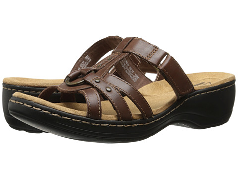 Clarks - Hayla Theme (Brown Leather) Women's Sandals