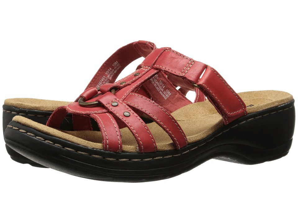 Clarks - Hayla Theme (Red Leather) Women's Sandals