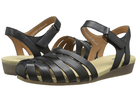 Clarks - Jaina Stafford (Black Leather) Women's Sandals