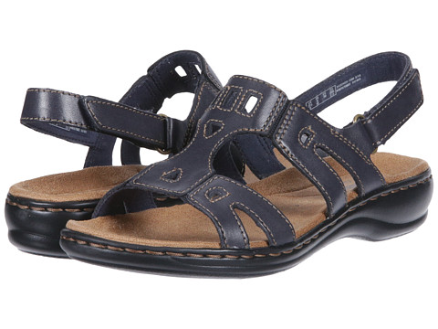Clarks - Leisa Annual (Navy Leather) Women's Sandals