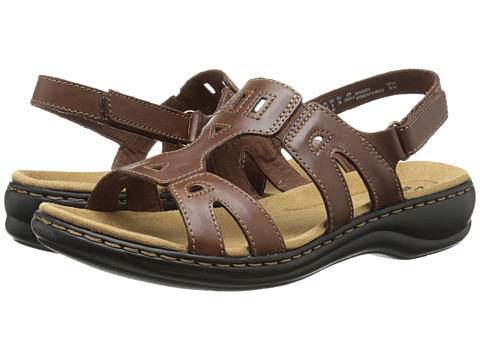 Clarks - Leisa Annual (Brown Leather) Women's Sandals