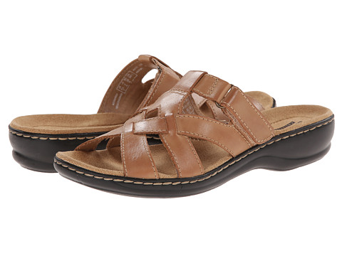 Clarks - Leisa Bloom (Beige Leather) Women's Sandals