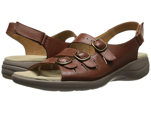 Clarks - Saylie Medway (Tan Leather) Women's Sandals