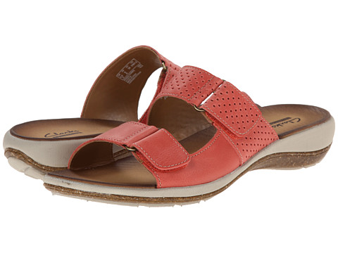 Clarks - Taline Trim (Coral Leather) Women's Sandals