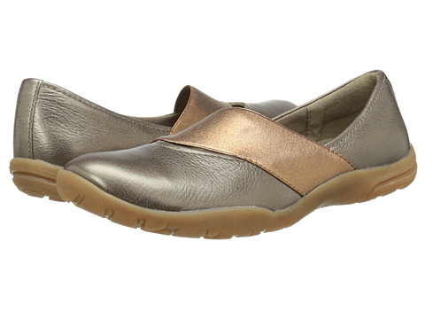 Clarks - Vailee Pine (Grey Metallic Leather) Women