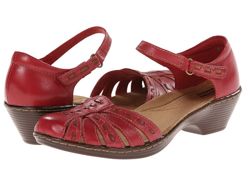 Clarks - Wendy Estate (Red Leather) Women