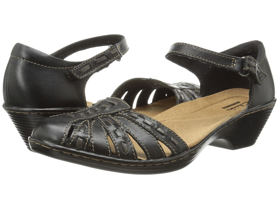 Clarks - Wendy Estate (Black Leather) Women's Shoes