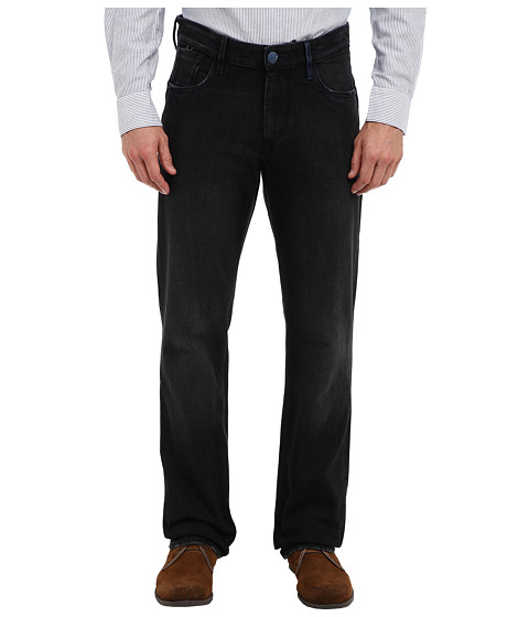 Robert Graham - Harlem Woven Denim Classic Yates in Black (Black) Men