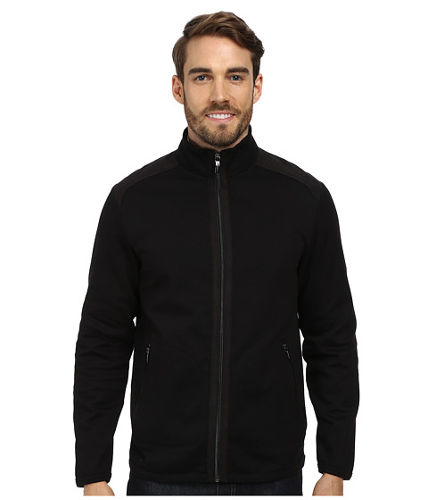 Perry Ellis - Full Zip Mix Media Knits (Black) Men's Coat