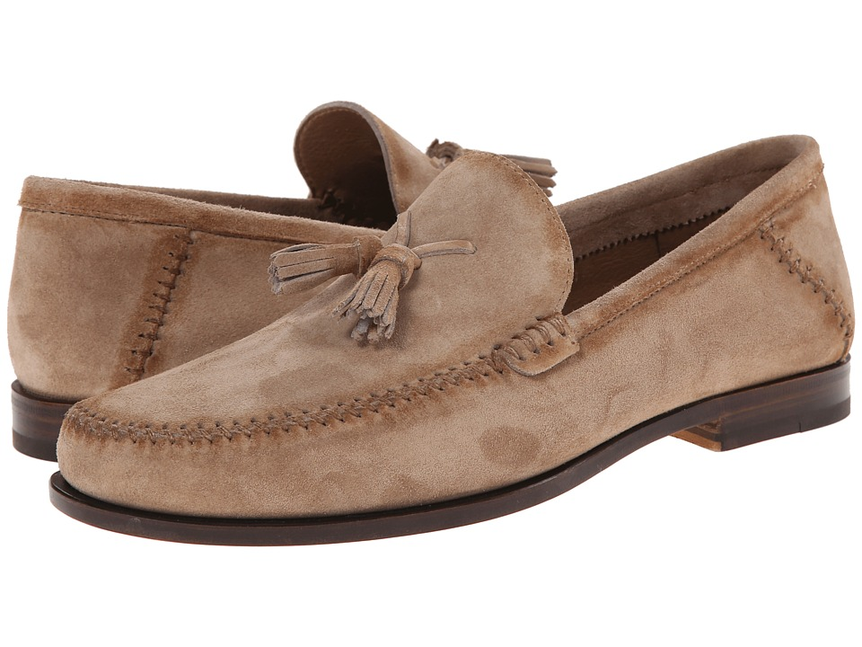 Santoni - Barnes (Sand) Men's Dress Flat Shoes