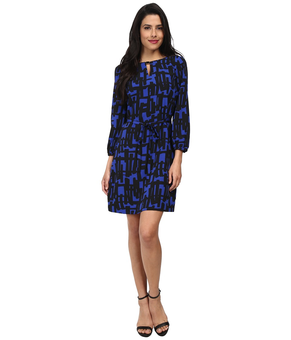 Tahari by ASL - Alina - N (Cobalt Blue/Black) Women's Dress