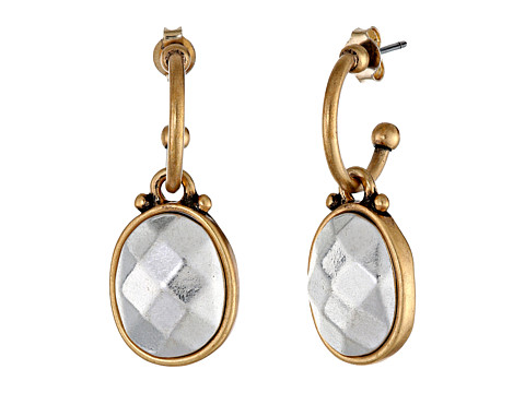 Lucky Brand - Two-Tone Metal Drop Earring (Two-Tone) Earring