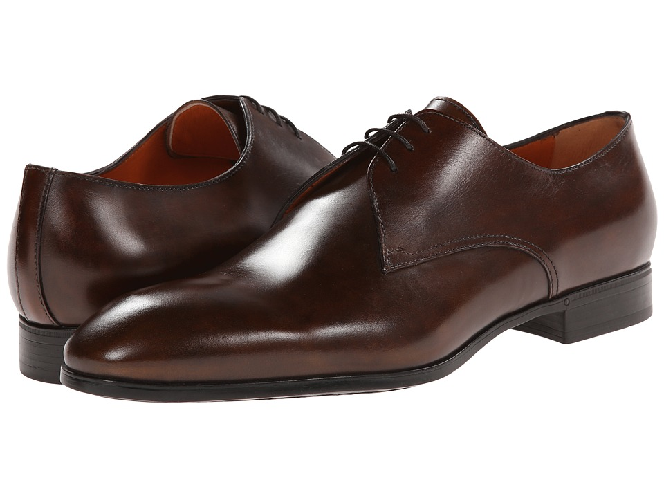 Santoni - Wescott (Brown) Men's Plain Toe Shoes