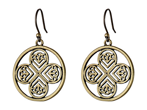 Lucky Brand - Gold Clover Drop Earring (Gold) Earring