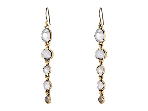 Lucky Brand - Organic Stone Drop Earring (Gold) Earring