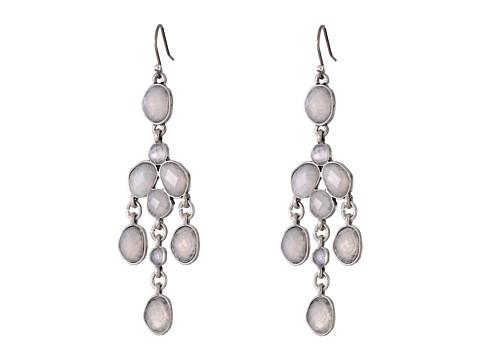 Lucky Brand - Organic Stone Chandelier Earring (Silver) Earring