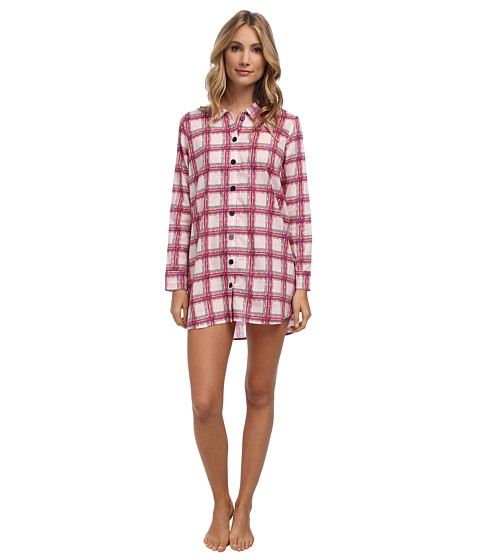BCBGeneration - Long Sleepshirt (Plaid) Women's Pajama