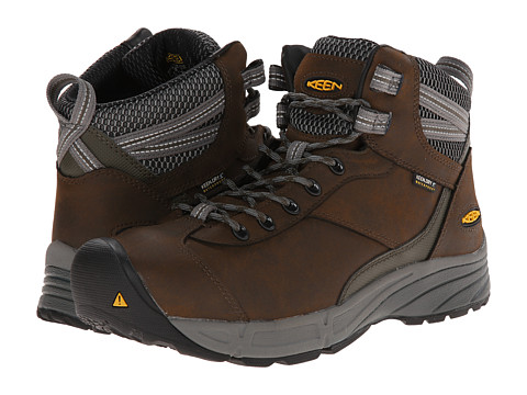 Keen Utility - Aurora Mid AL (Cascade Brown/Forest Night) Men's Work Boots