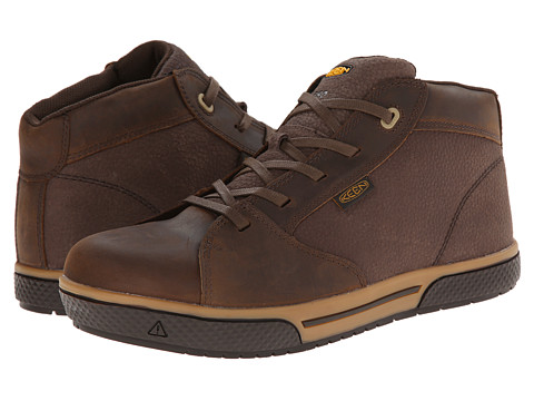 Keen Utility - Vero Mid ESD (Cascade Brown) Men's Work Boots
