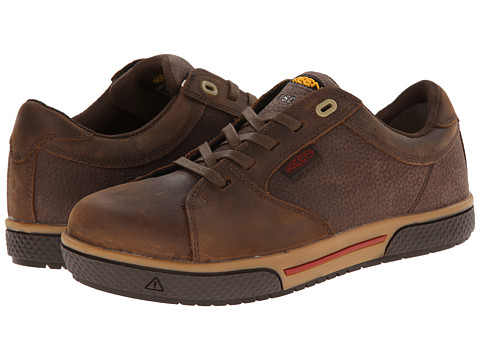 Keen Utility - Vero Low ESD (Cascade Brown) Men's Work Boots
