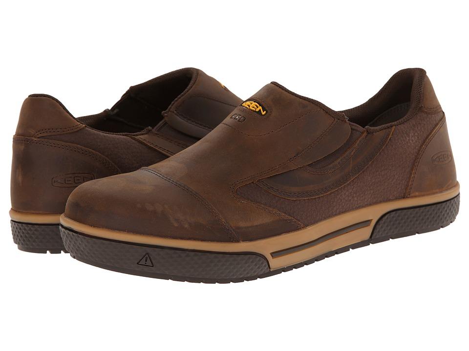 Keen Utility - Destin Slip-on (Cascade Brown) Men's Work Boots