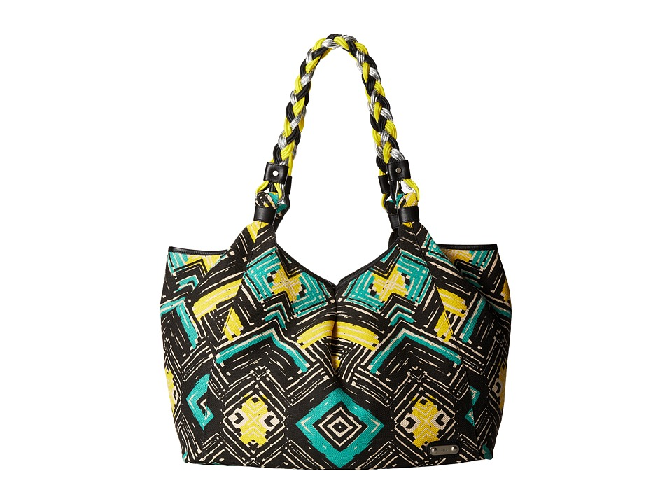 Rafe New York - Playa Tote (Black/Green Tile) Tote Handbags