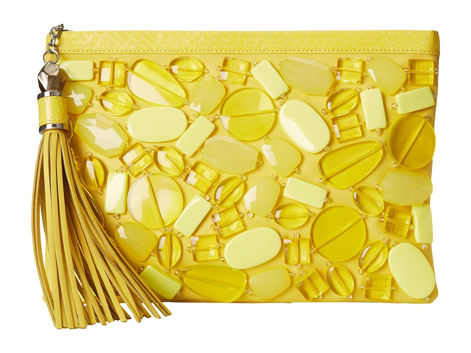 Rafe New York - Large Celia Clutch (Lemon Drops) Clutch Handbags