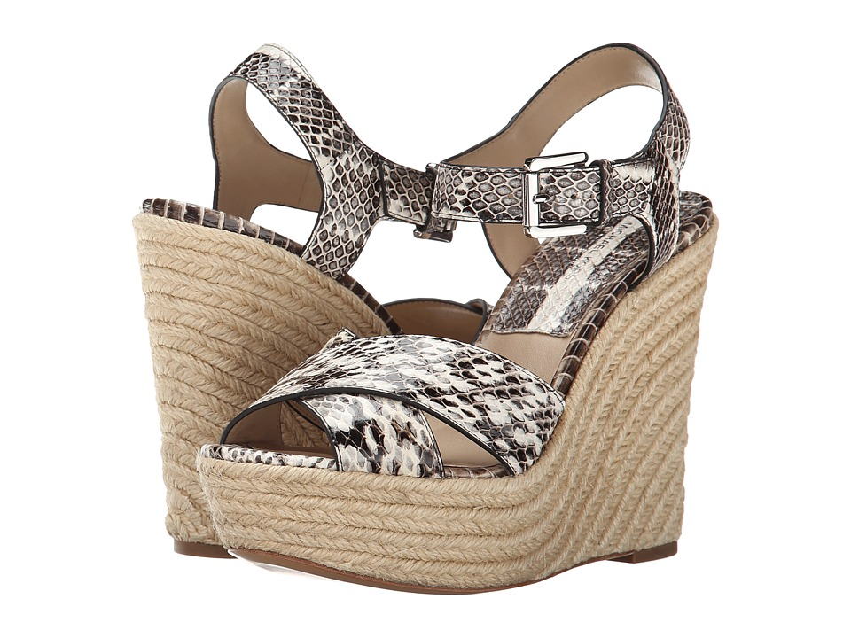 Michael Kors - Aimee (Natural Genuine Snake/Jute) Women's Wedge Shoes