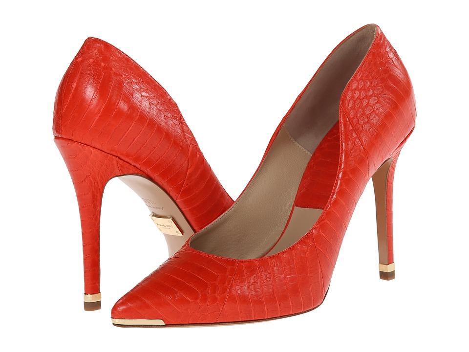Michael Kors - Avra (Mandarin Solid Matte Genuine Snake) High Heels