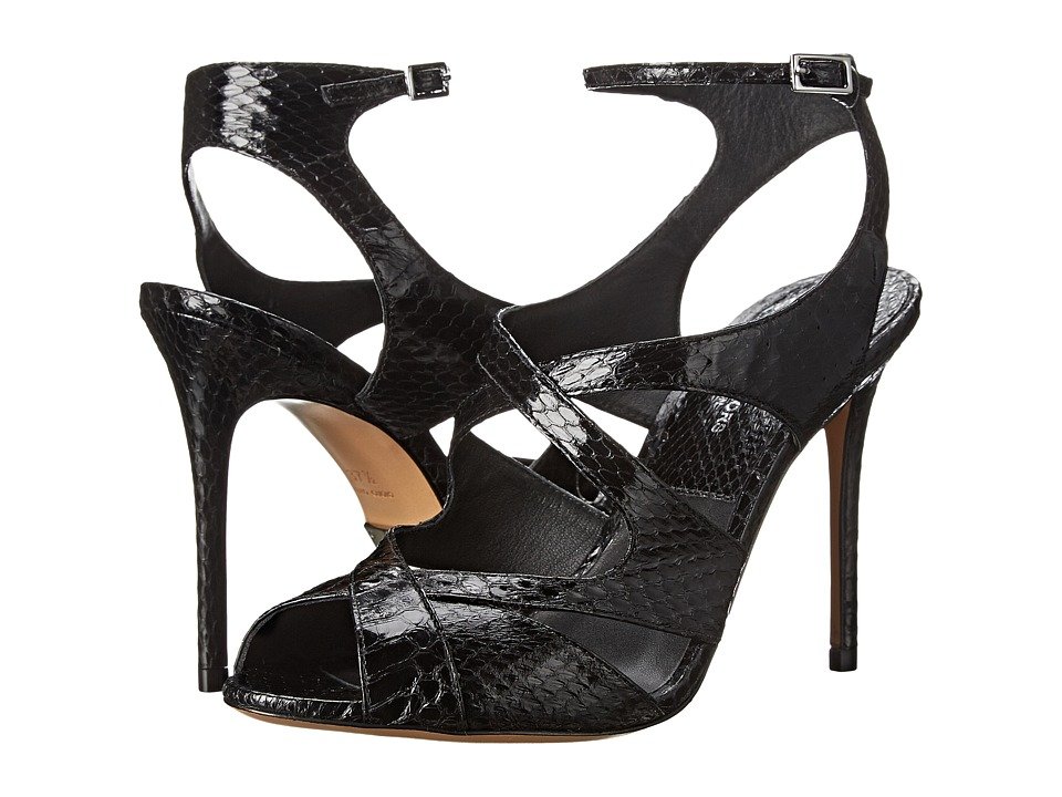 Michael Kors - Cordelia (Black Genuine Snake Solid) High Heels