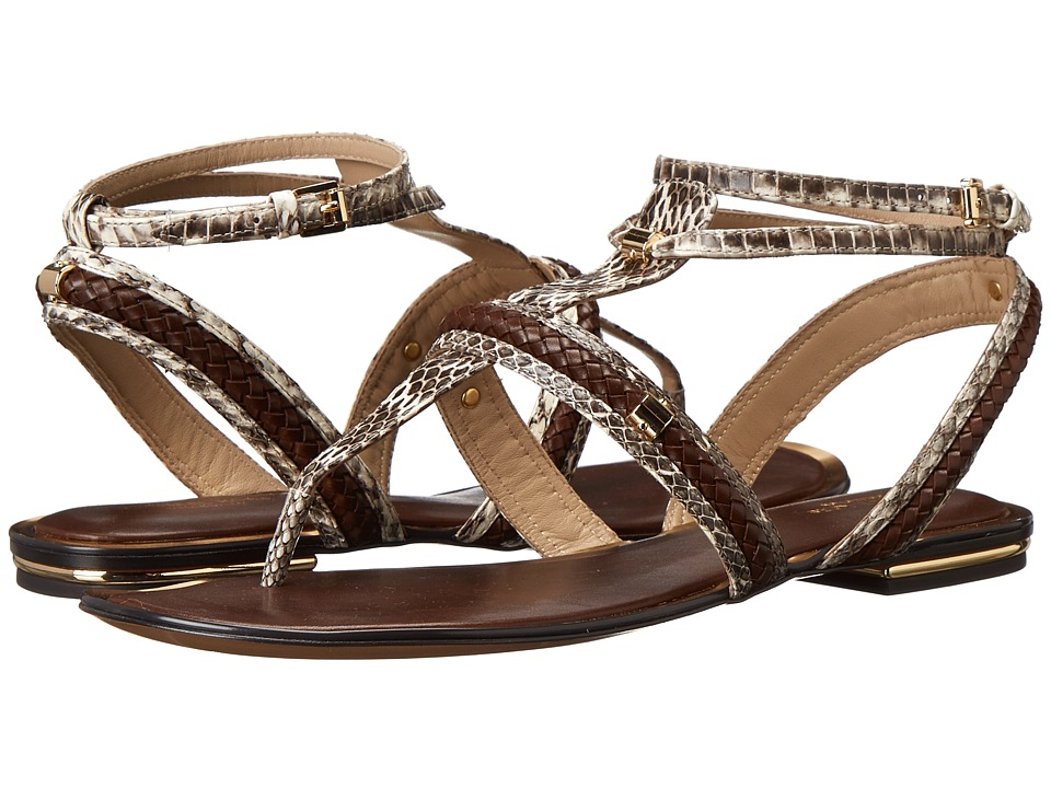 Michael Kors - Halden (Natural Genuine Snake/Braid) Women's Sandals