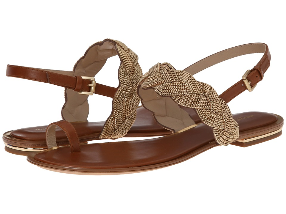 Michael Kors - Hanalee Chain (Luggage Smooth Calf/Chain) Women's Sandals