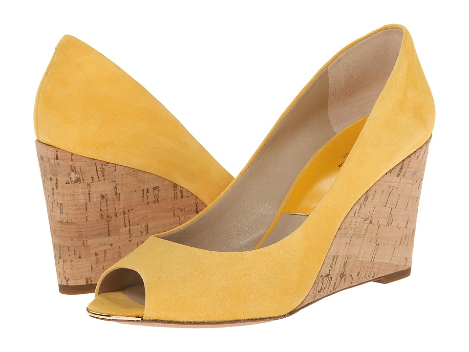 Michael Kors - Valari (Daffodil Kid Suede/Smooth Calf/Cork) Women