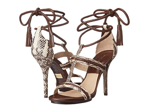 Michael Kors - Valera (Natural Genuine Snake/Braid/Embossed Croco Shiny) High Heels