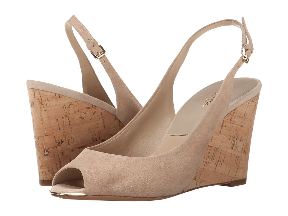 Michael Kors - Vikki (Nude Kid Suede/Smooth Calf/Cork) Women's Wedge Shoes
