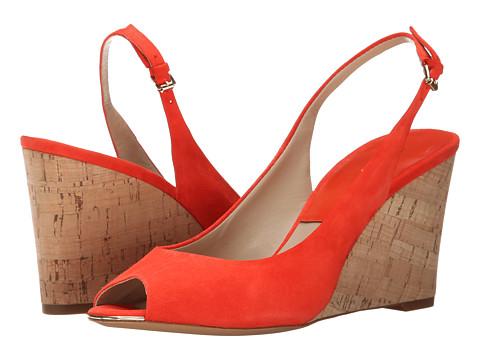 Michael Kors - Vikki (Mandarin Kid Suede/Smooth Calf/Cork) Women's Wedge Shoes