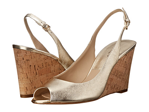 Michael Kors - Vikki (Sunglow Metallic Nappa/Cork) Women's Wedge Shoes