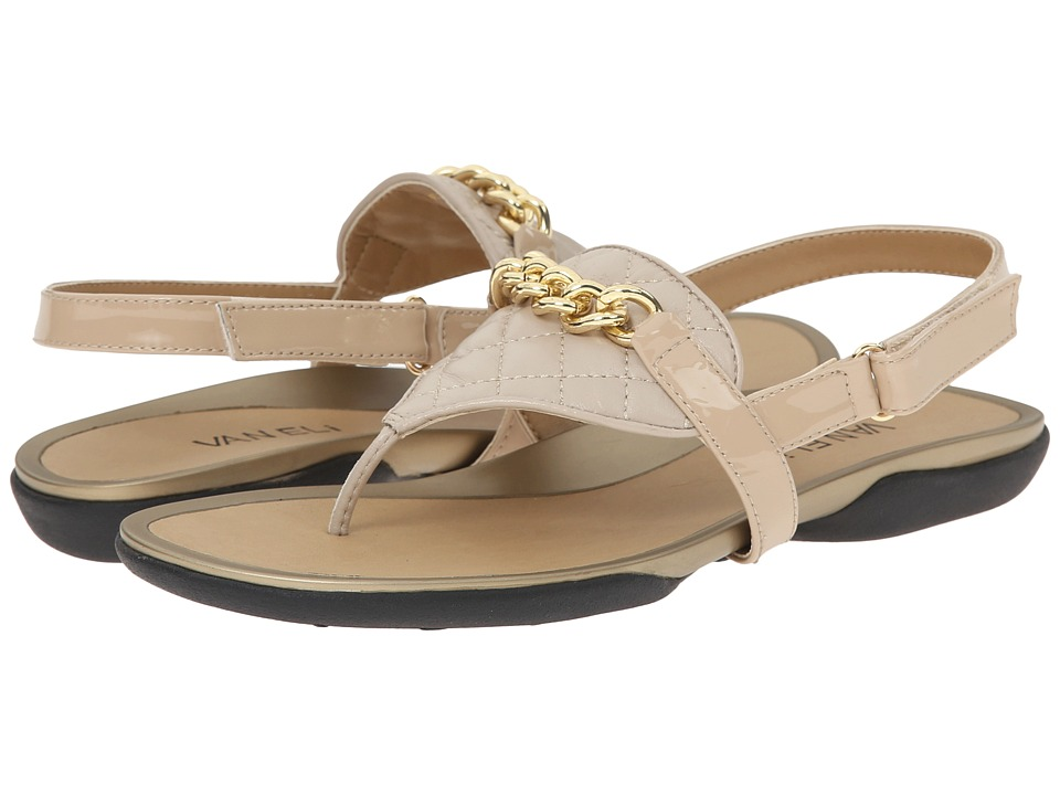 Vaneli - Wenda (Ecru Quilted Nappa/Mtch Mag Patent) Women's Sandals
